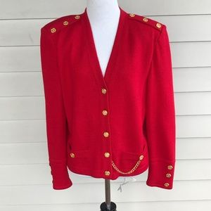 St. John Collection Marie Gray Military Jacket